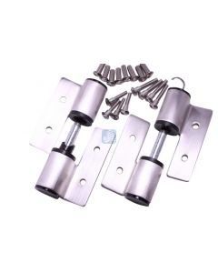 Surface Mounted Hinge Set RH/In-LH/Out W/Fasteners Stamped Stainless Steel