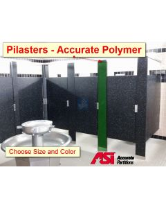 Accurate - Polymer Restroom Stall Pilasters