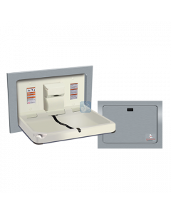 9018 Baby Changing Station Horizontal Recessed Stainless Steel