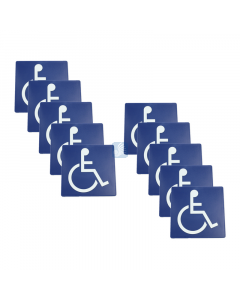 """Wheelchair Only Wall Sign – 6"""" 10 Pack"""