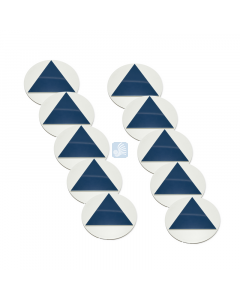 All Gender Door Sign – White with Blue Triangle 10 Pack