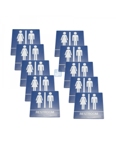 All Gender Handicap Bathroom Sign for Wall – No Chair 10 Pack