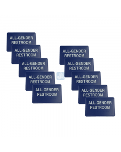 """All Gender Restroom Sign – for Wall 3"""" x 6"""" 10 Pack"""