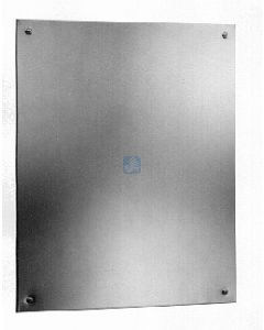 """Stainless steel Channel Framed Mirror With Shelf - th x 36"""" Leng"""