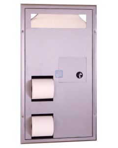 Classic B-357 Seat Cover & Toilet Tissue Dispenser with Disposal