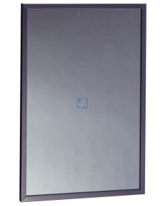 """Stainless Steel Channel Framed Mirror - . - 18"""" Width x 36"""" Leng"""