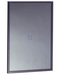 """Stainless Steel Channel Framed Mirror - . - 24"""" Width x 36"""" Leng"""