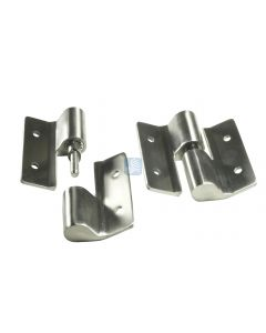 Surface Mount Hinge Set LH/Inswing-RH/Outswing Cast Stainless Steel