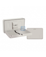 9014 Baby Changing Station Horizontal Surface Mounted Plastic Grey Color
