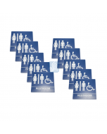 All Gender Handicap Bathroom Sign for Wall – W/Chair 10 Pack