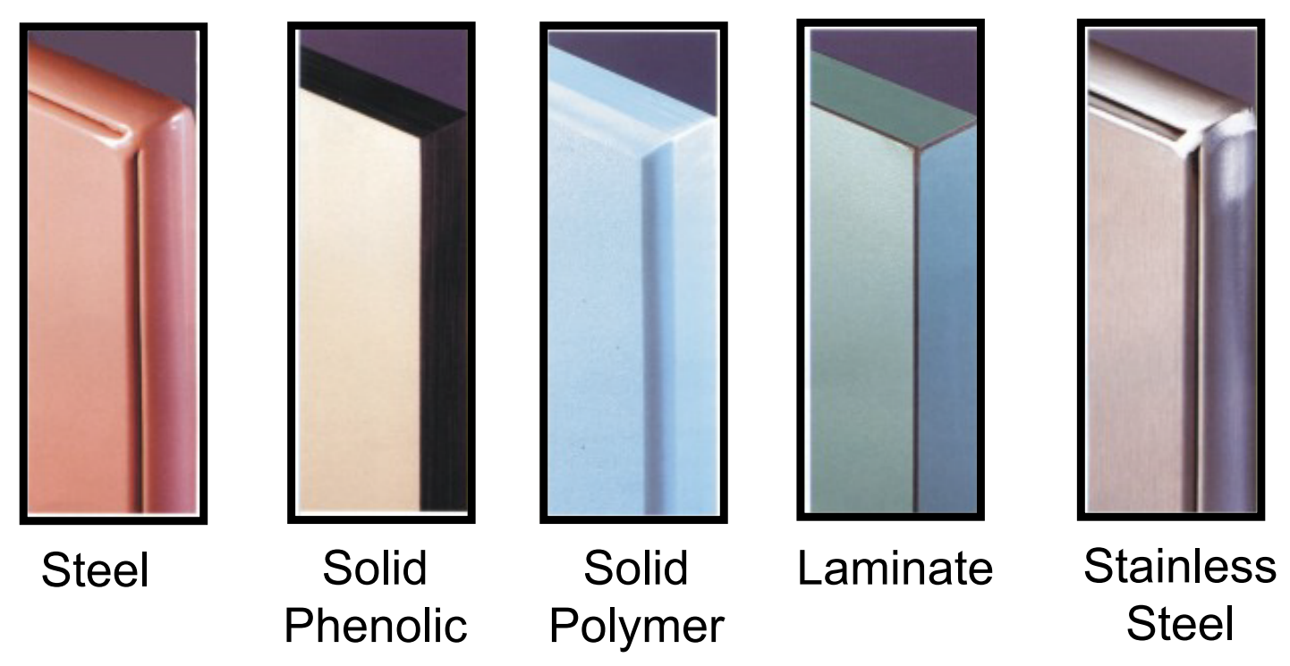 All Partition Stall Materials and Colors
